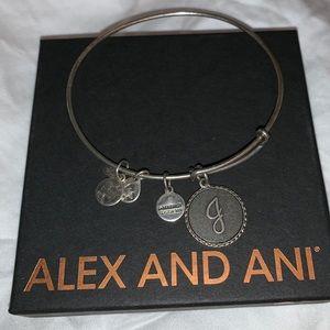 """""""J"""" Alex and Ani Bracelet"""